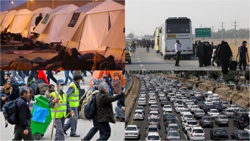 آمادگی موکب ها و دستگاههای خدمات رسان برای بازگشت زائران از مرز خسروی