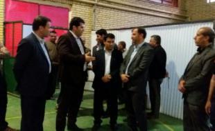 دیدار فرماندار شهرستان با ورزشکاران و اعضای هیئت کشتی هرسین