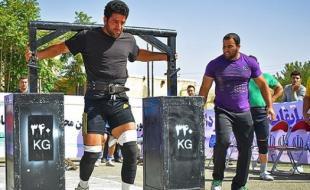 ورزشکار کرمانشاهی مقام ششم مسابقات قوی ترین مردان ایران را کسب کرد
