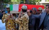 """مراسم تشییع امیر سرلشکر خلبان آزاده جانباز """"کرم رضا مکری """" در صحنه انجام شد"""
