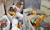 توزیع سبدهای معیشت عیدانه هدیه رهبری در بین نیازمندان شهرستان جوانرود