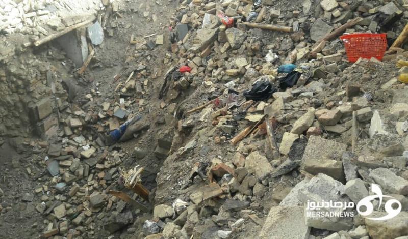 ریزش ساختمان در خیابان فردوسی کرمانشاه/ جسد یک زن و مرد از زیر آوار بیرون کشیده شد